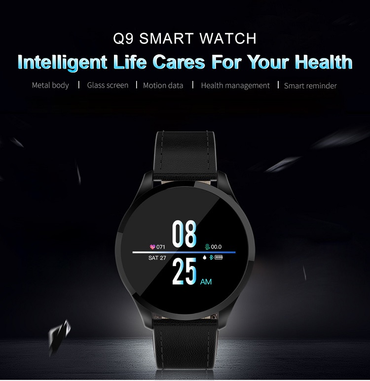 Q9 Fitness Tracker Watch 1 22inch IPS Screen Heart Rate
