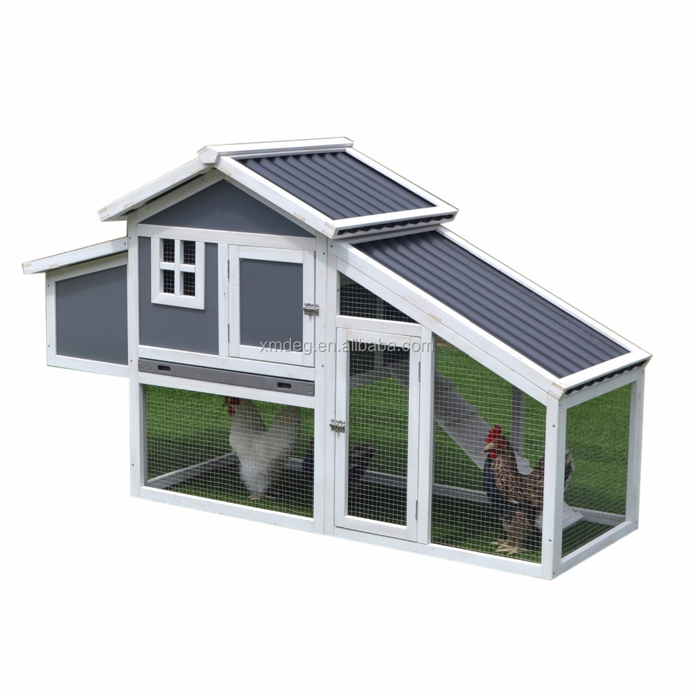 wooden outdoor furniture wood chicken cage and running and Plastic Poultry House