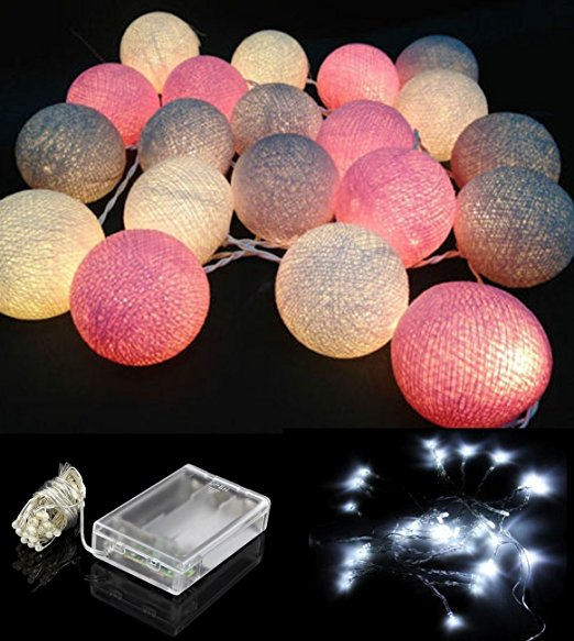 3AA Bttery 20 LEDS magic Swizze 2.3M String Led Cotton Ball Lights outdoor For Garden Party Wedding <strong>Decor</strong>