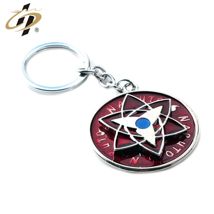 Wholesale Promotional  custom 3d  high quality  zinc alloy Naruto Darts commemorate Metal keychain
