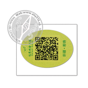 Sales promotional 2D barcode label sticker, QR code