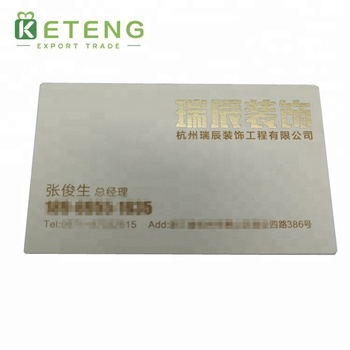 Hot Sale Cotton Paper Die-cut Business Cards Printing With Embossed Logo