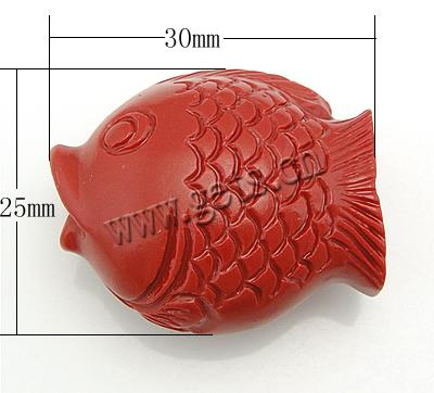 Gets.com 2015 red synthetic coral fish shaped ceramic beads