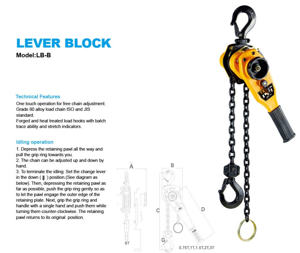 China Global Hand Lever Chain Block Supplier