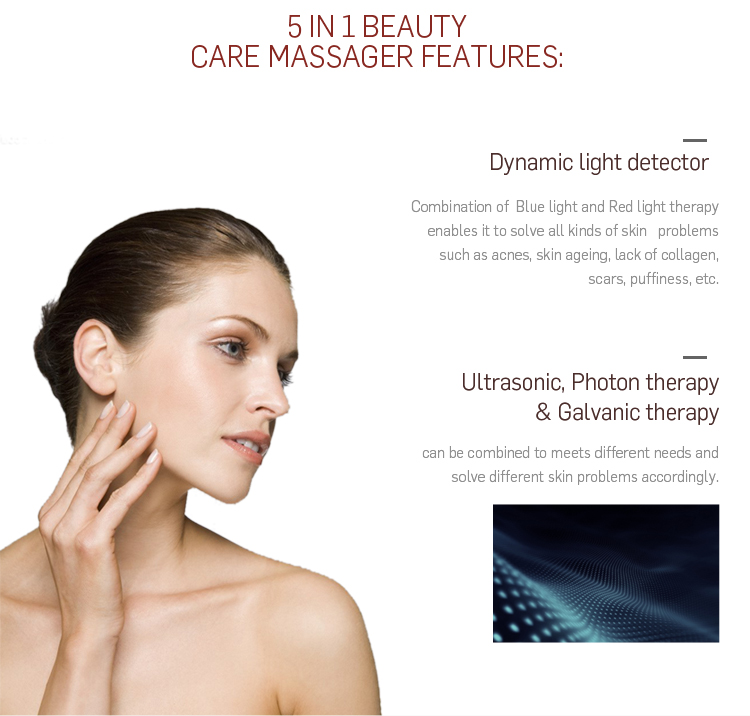 Home Use Skin Care Led Light Therapy Ultrasonic Beauty Device - Buy ...