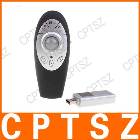 7 in 1 Wireless RF Remote USB PowerPoint Controller Presenter Mouse Black