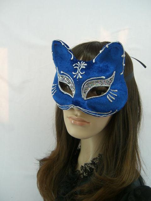 Italya Venedik Kağıt Maske Boyama Kedi Maskesi Doğum Günü Partisi
