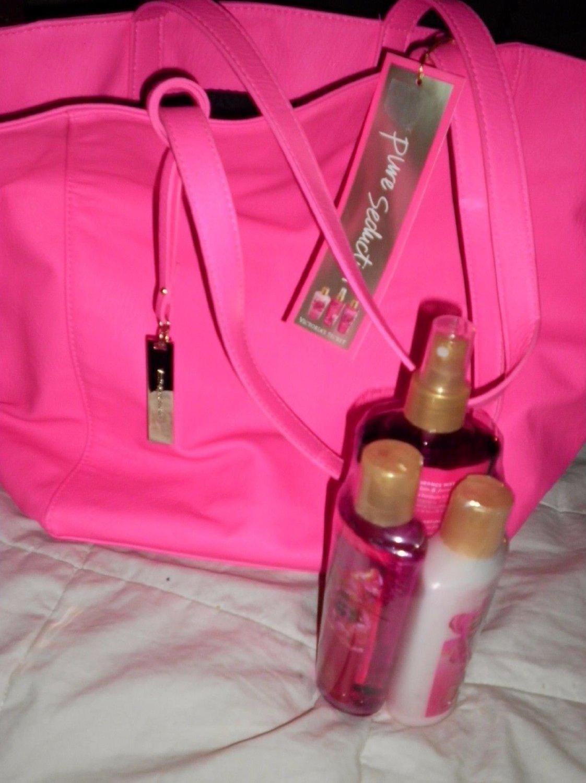 Victoria's Secret PURE SEDUCTION 4Pc Gift Set Bag,Body Mist,Body Lotion,Shower Gel