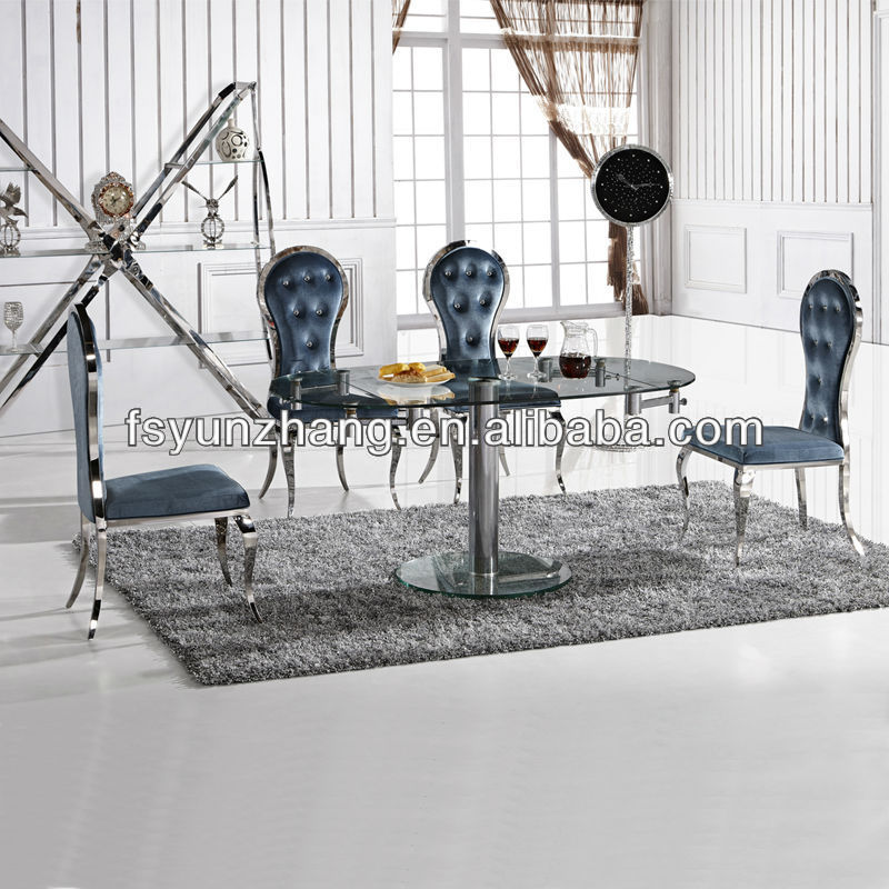 China Extension Glass Dining Table China Extension Glass Dining