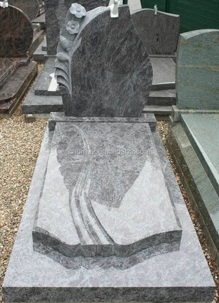 India Red Granite Tombstone Headstone With European Design