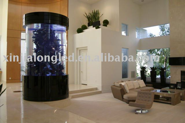 colonne acrylique aquarium cylindre aquarium r servoir avec pompe lumi re filtre chauffe. Black Bedroom Furniture Sets. Home Design Ideas