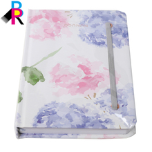 Fashion hot stamping cardboard custom print notebooks