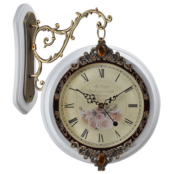 Antique Double Sided Hanging Wall Clock