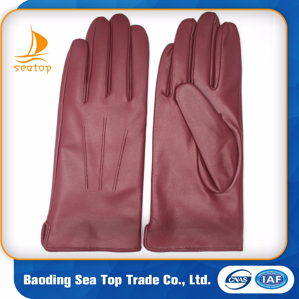 made in china 2016 classical style cheap motorbike goat leather gloves