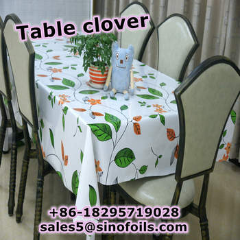 Coffee Fabric Table Tablecloths With Backing Three Layer