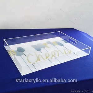 Clear Premium Acrylic Shadow Box Sign Frame with UV printing for Studio