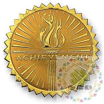 Turkmen Gold Deluxe Embossed Foil Sealscustom Embossing Seal - Custom gold foil stickers