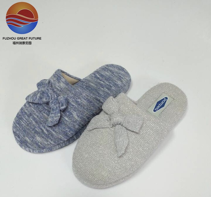 Superior Quality Exported to European Ladies Bowknot Indoor Shoes