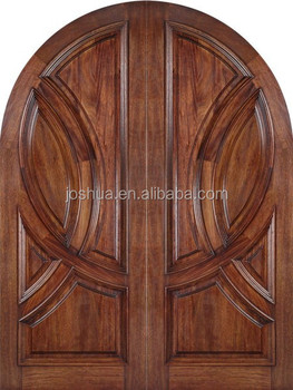 Rounded Top Mahogany Wood Double Entrance Door Buy Arch