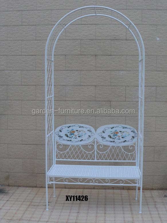 with benches Chinese leisure decorative garden furniture outdoor furniture wrought  iron garden arbors iron. With Benches Chinese Leisure Decorative Garden Furniture Outdoor