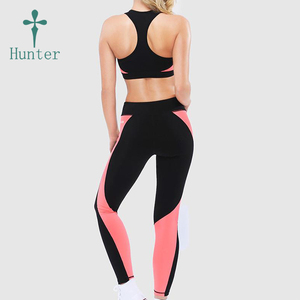 Fashion Design Skinny Tights Panel Ladies Fitness Compressed Exercise Running Pants Private Label Yoga Sets