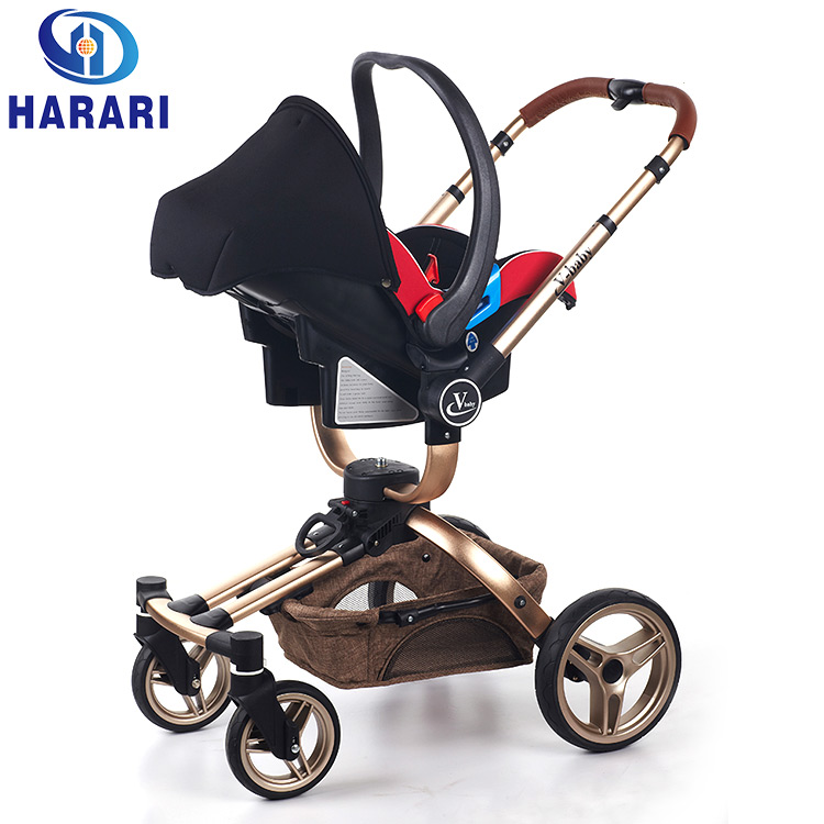 Good quality Rotatable baby carriage folding stroller fashion strollers with car seat