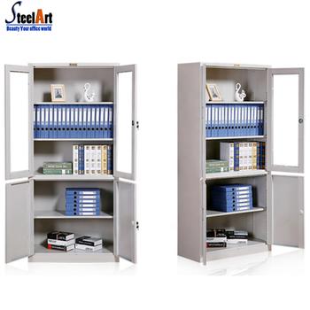 Armadio Metallico Per Ufficio.Up Di Vetro Porta Deposito Di Stoccaggio Di Metallo Per Ufficio