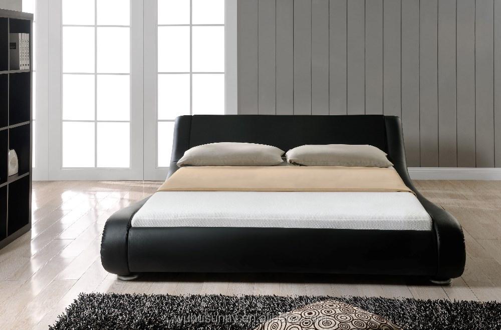 Enzo Italian Design White Pu Bed Buy Italian Leather Bed