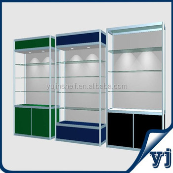 Commercial Locking Glass Sliding Doors Shop Glass Display Cabinet ...