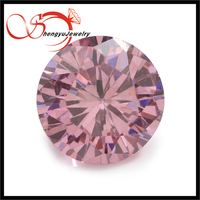 Newly round Cubic Zircon pink colorful loose cz for sell
