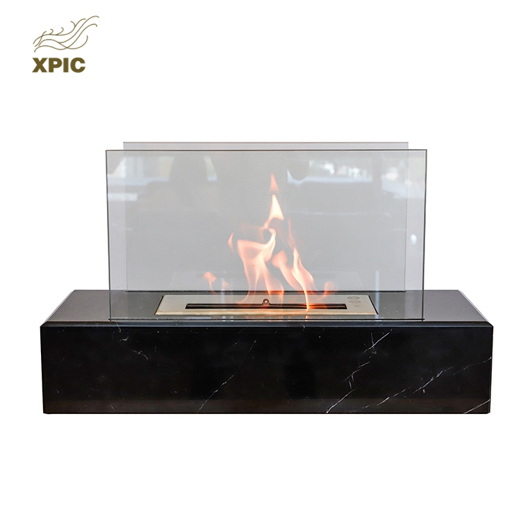 Indoor Ethanol Fireplace Fire Pit Outdoor Gas Portable Square Modern Table Firepit