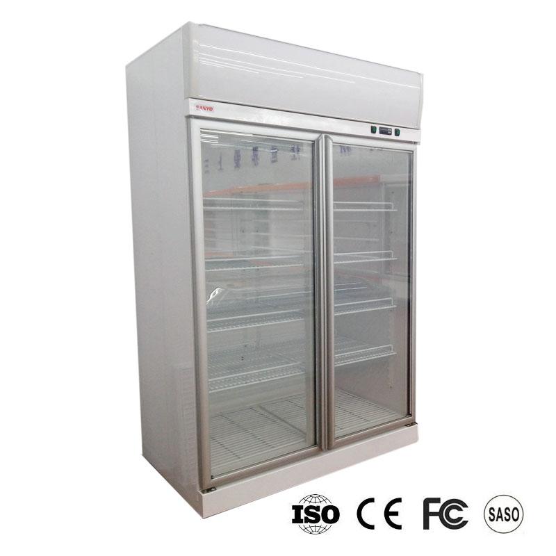 Double Door Upright Freezer Supplieranufacturers At Alibaba Com