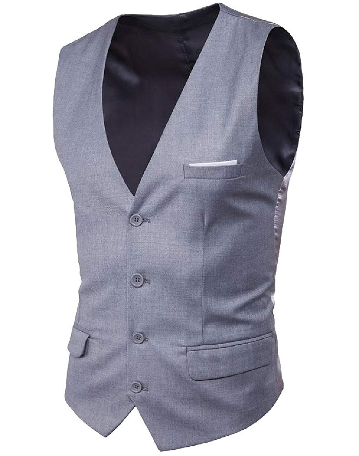 Coolred-Men Formal Button Tank Top Wild Business V-Neck Suits Vest