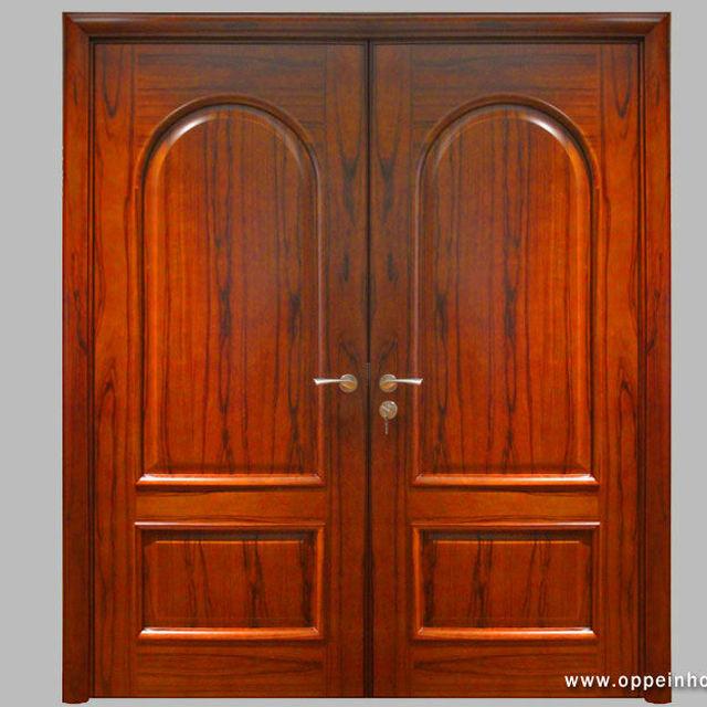 modern exterior double swing silod wood double entry door - Modern Exterior Double Doors