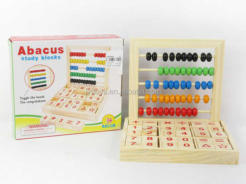 kids stationary toy wooden study blocks toys abacus wood