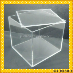 10 years direct ISO 9001 factory sell clear acrylic cube boxes(with lid and no lid would be ok)