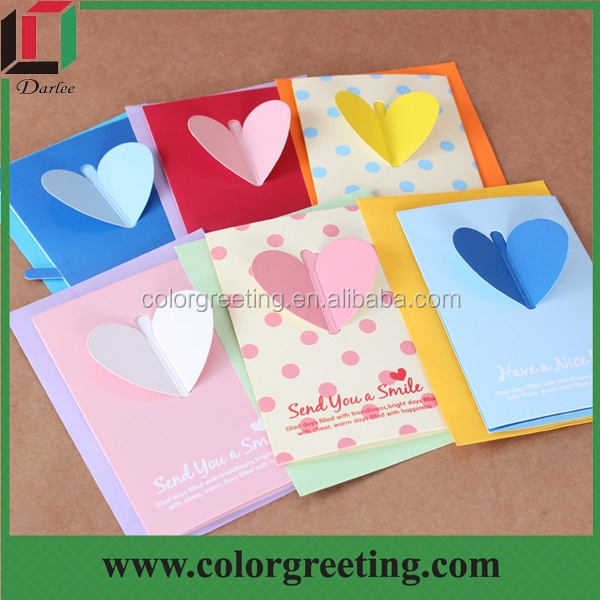 Kraft Paper Greeting Card Customized Cheap Lace Cutting Birthday – Construction Paper Birthday Cards
