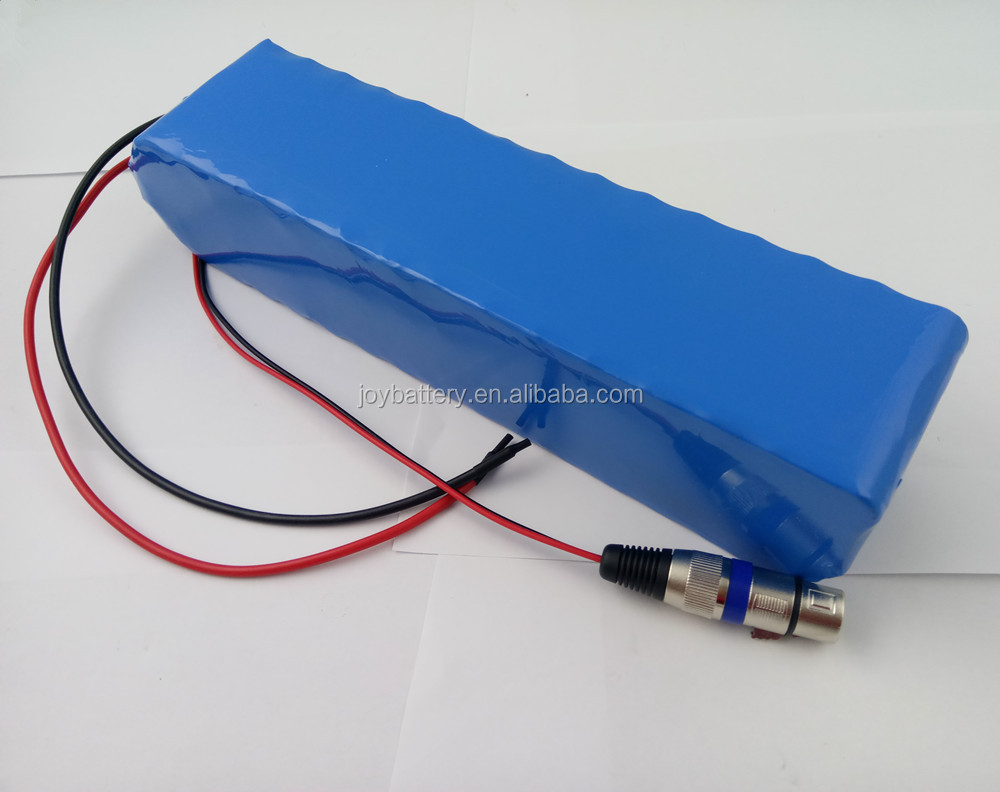 36V 15Ah rechargeable lithium ion battery pack with 3A charger
