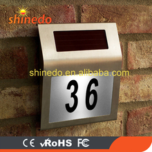 Powerful led Stainless steel solar house number light