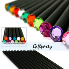 New Arrival ! Basswood HB Pencil With Colorful Diamond Kawaii  School Painting Drawing Writing Children  Charcoal