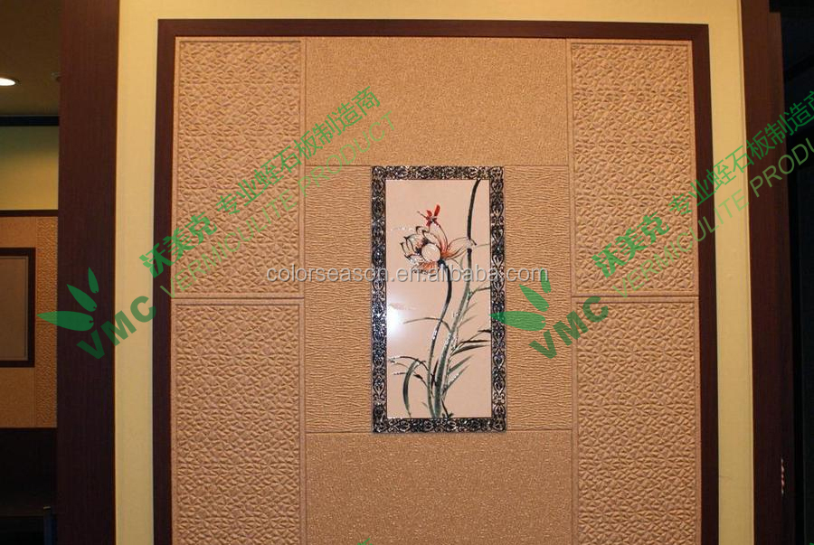 Interior wall panel vermiculite insulation decorative board