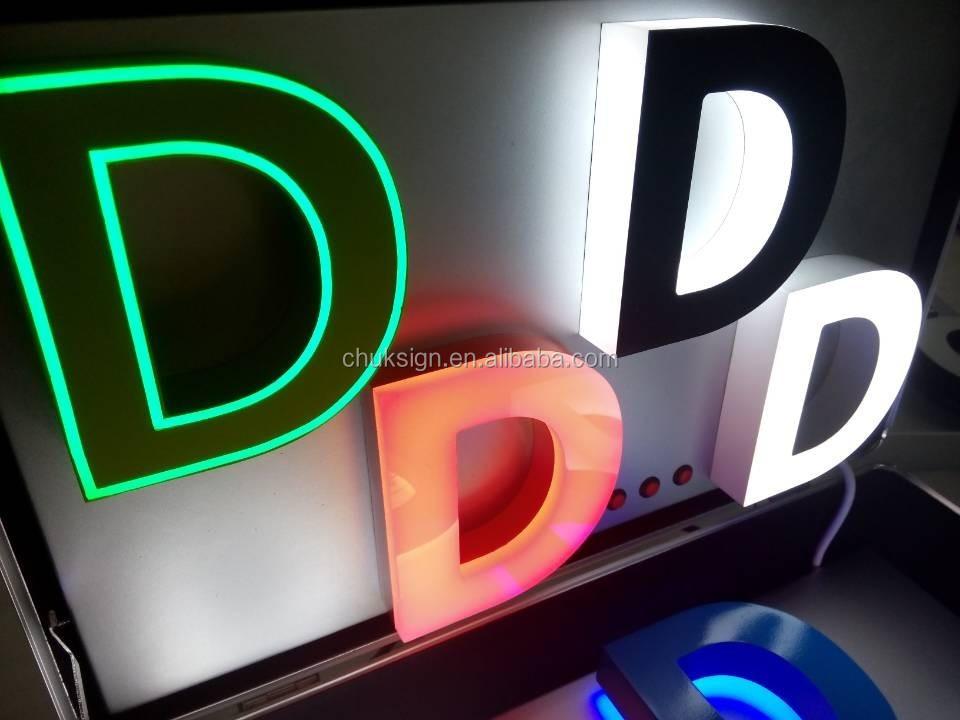 Colorful Unique Portable Illuminated Acrylic Channel