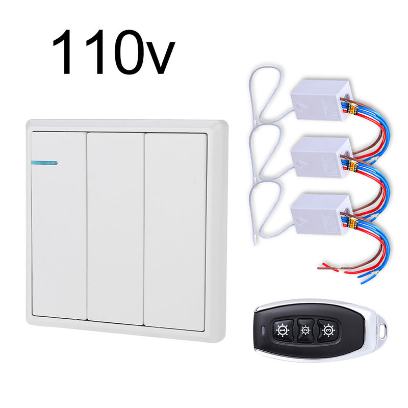 Smart Home Control Wall Switch Wireless Remote Control Light Switch 3 Keys  Kit No Wiring For Home Automation Wooden Glass Wall - Buy Smart