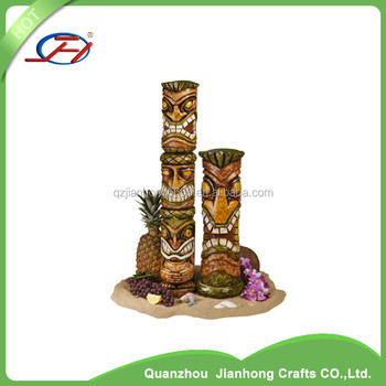 Primitive Tiki Totem Statue Pool Spa Exotic Tropical Island Luau Patio