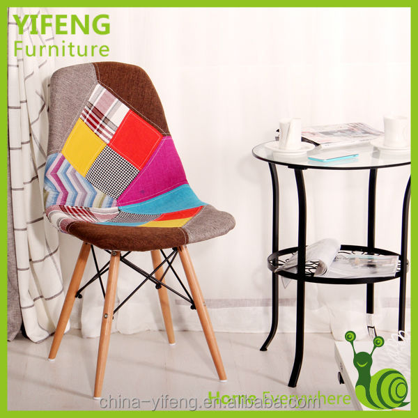 2017 Chinese Furniture Multicolored Fabric Dining Chair Factory Manufacturer