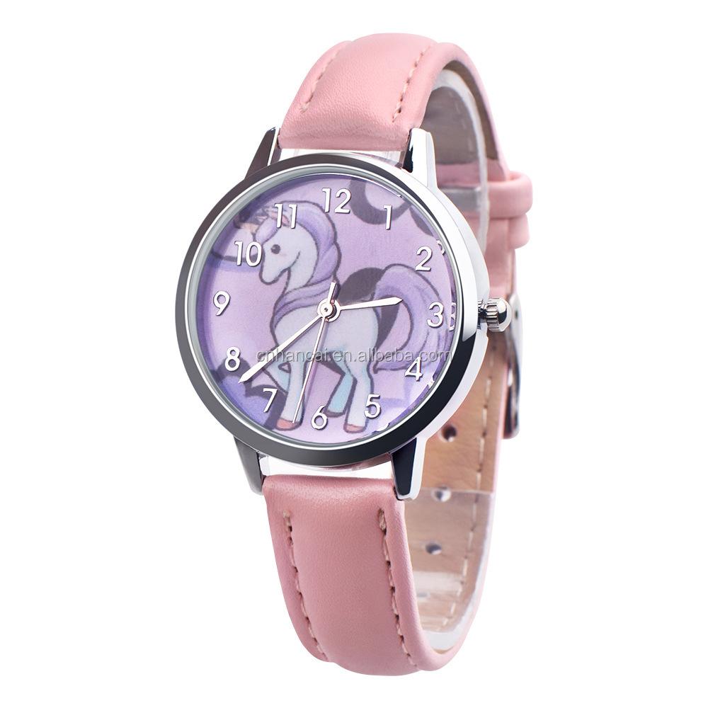 Disney Cartoon Children Watches Girls Quartz Watch Top Brand Frozen Pu Leather Watchband Fashion Girls Frozen Watch Dropshipping In Short Supply Children's Watches