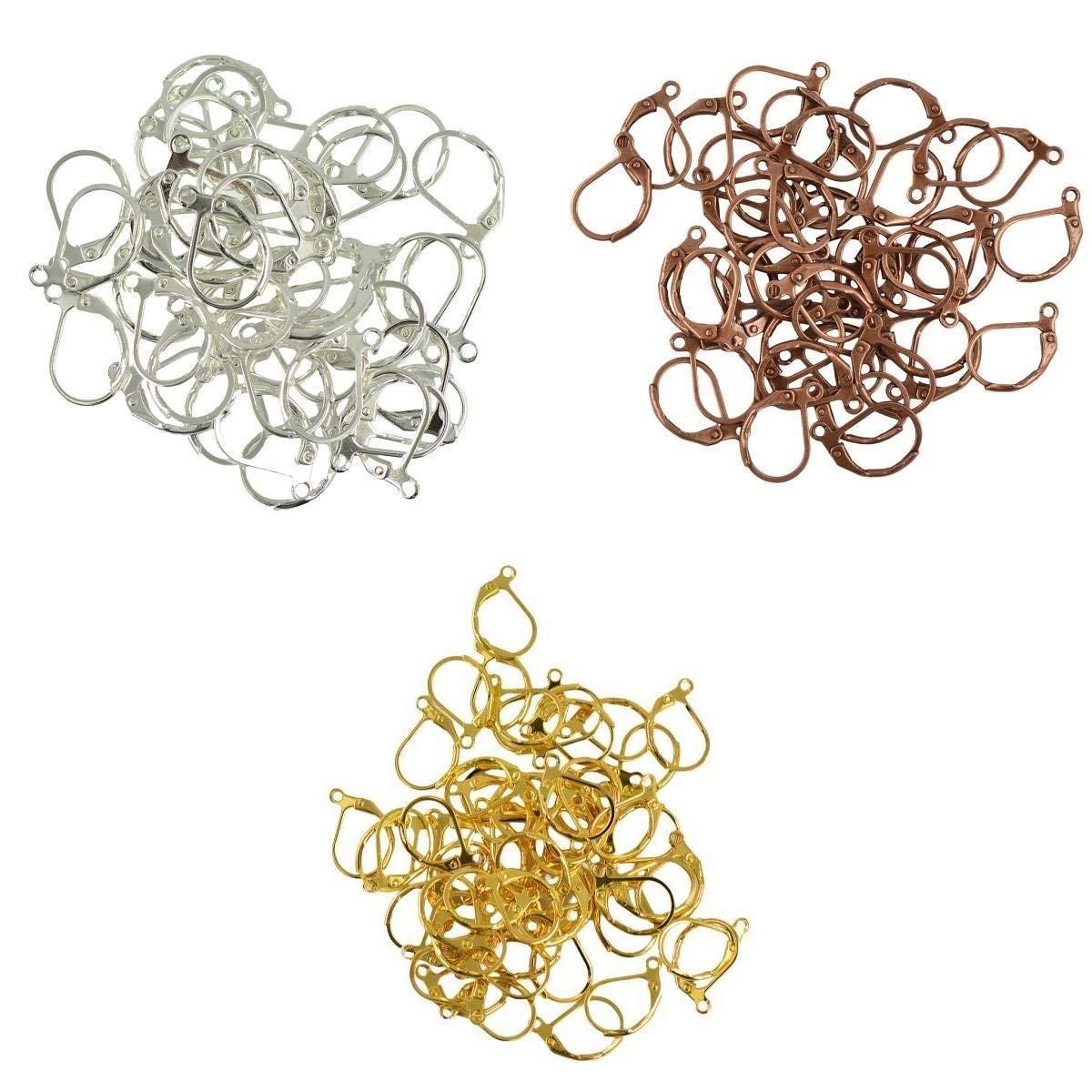 10 Pairs Genuine Copper Earring Hooks Kidney Wire 47.5mm