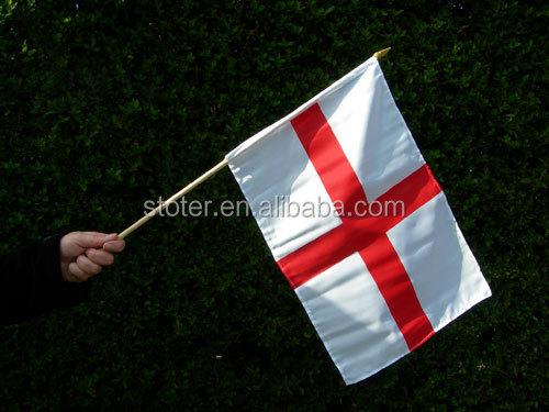 Promotional mini England George hand wabing flag