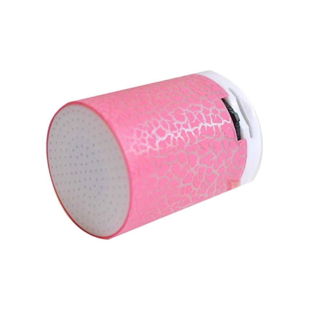 Junshion Speaker, Portable Mini Speakers - Wireless Hands Free Speaker With TF - LED Dancing Light Speaker Stereo Player