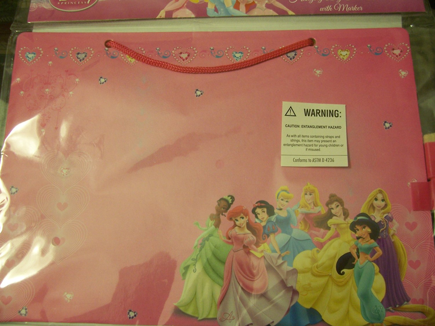 Disney Princess Hanging Dry Erase Board with Marker ~ Princess Party